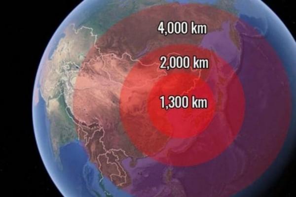 El primer avance norcoreano demostrado este año alcanzaba a unos 4.000 kilómetros. Fue rápidamente superado