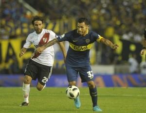 Torneo de Verano 2018 River vs Boca. Tevez Ponzio. 21.01.2018 Foto Maxi Failla