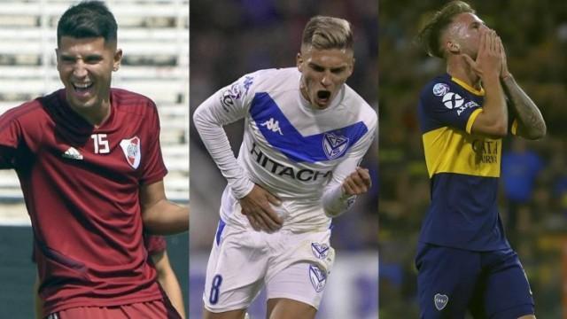 Exequiel Palacios, de River, Nicolás Domínguez, de Vélez, y Alexis MacAllister, de Boca, figuran en el Top Ten de los jugadores con mayor valor de mercado de la Superliga